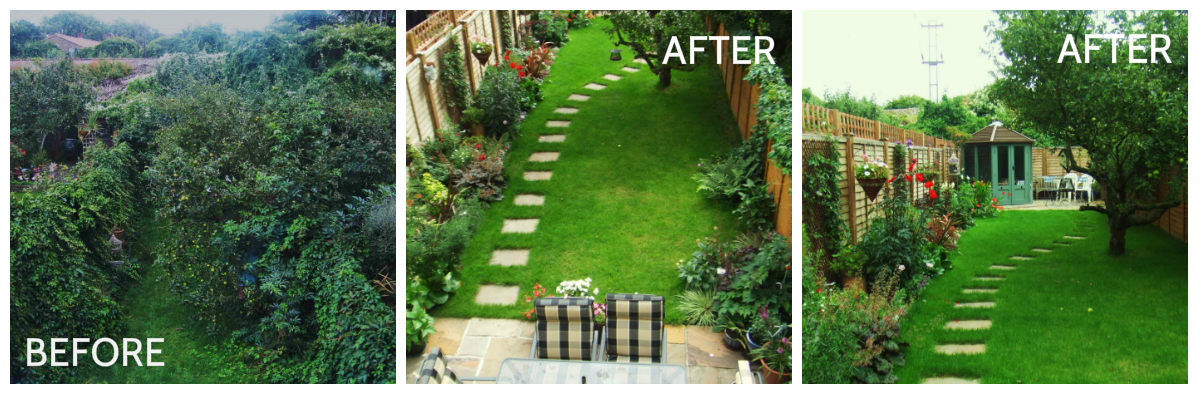 The house landscaping back yard - Gardens Before And After Make The Most Of Your Garden
