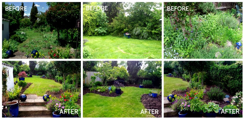 Gardens before and after make the most of your garden for Back garden designs before and after